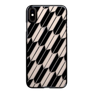 "【Web限定】Air Jacket ""Kiriko"" for iPhone XS Max 矢絣 ピアノブラック"