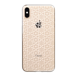 "【Web限定】Air Jacket ""Kiriko"" for iPhone XS Max 七宝に星 クリア"