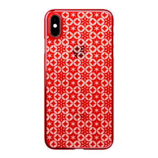 "【Web限定】Air Jacket ""Kiriko"" for iPhone XS Max 七宝に星 紅"