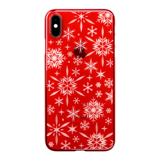"【Web限定】Air Jacket ""Kiriko"" for iPhone XS Max 雪片 紅"