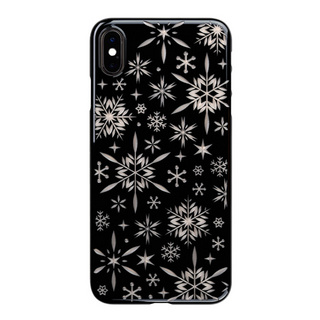 "【Web限定】Air Jacket ""Kiriko"" for iPhone XS Max 雪片 ピアノブラック"