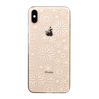 "【Web限定】Air Jacket ""Kiriko"" for iPhone XS Max 花 クリア"
