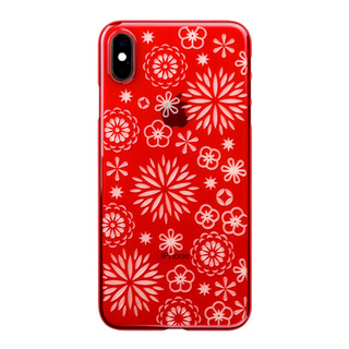 "【Web限定】Air Jacket ""Kiriko"" for iPhone XS Max 花 紅"