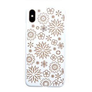 "【Web限定】Air Jacket ""Kiriko"" for iPhone XS Max 花 ピュアホワイト"