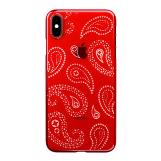 "【Web限定】Air Jacket ""Kiriko"" for iPhone XS Max ペイズリー 紅"