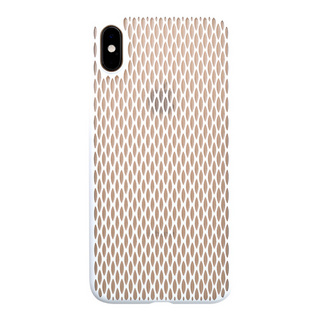 "【Web限定】Air Jacket ""Kiriko"" for iPhone XS Max 米つなぎ ピュアホワイト"