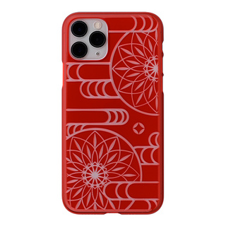 "【Web限定】Air Jacket ""kiriko"" for iPhone11 Pro エ霞に鞠 (紅)"