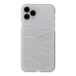 "【Web限定】Air Jacket ""kiriko"" for iPhone11 Pro 千代柄(扇) (クリア)"
