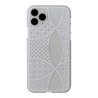 "【Web限定】Air Jacket ""kiriko"" for iPhone11 Pro 千代柄(七宝) (クリア)"