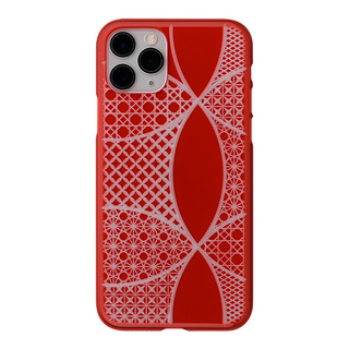 "【Web限定】Air Jacket ""kiriko"" for iPhone11 Pro 千代柄(七宝) (紅)"