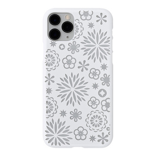 "【Web限定】Air Jacket ""kiriko"" for iPhone11 Pro 花 (ピュアホワイト)"