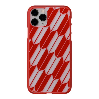 "【Web限定】Air Jacket ""kiriko"" for iPhone11 Pro 矢絣 (紅)"