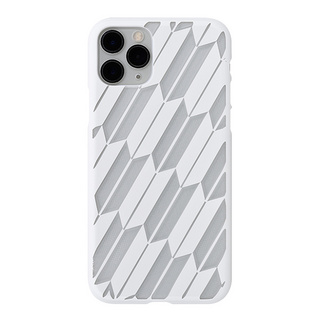 "【Web限定】Air Jacket ""kiriko"" for iPhone11 Pro 矢絣 (ピュアホワイト)"