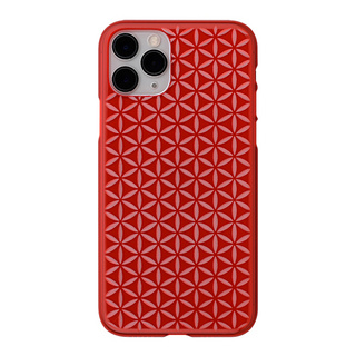 "【Web限定】Air Jacket ""kiriko"" for iPhone11 Pro 麻の葉つなぎ (紅)"
