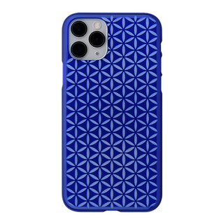 "【Web限定】Air Jacket ""kiriko"" for iPhone11 Pro 麻の葉つなぎ (瑠璃)"
