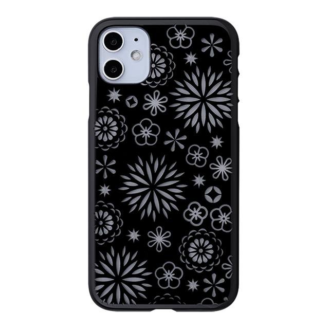 "【Web限定】Air Jacket ""kiriko"" for iPhone11 花 (ピアノブラック)"