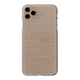 "【Web限定】Air Jacket ""kiriko"" for iPhone11 Pro Max 千代柄(扇) (クリア)"