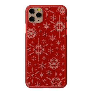 "【Web限定】Air Jacket ""kiriko"" for iPhone11 Pro Max 雪片 (紅)"