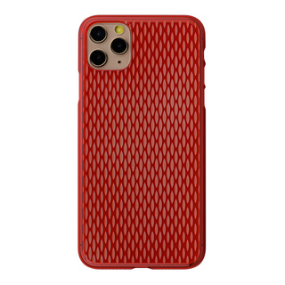 "【Web限定】Air Jacket ""kiriko"" for iPhone11 Pro Max 米つなぎ (紅)"