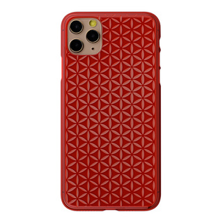 "【Web限定】Air Jacket ""kiriko"" for iPhone11 Pro Max 麻の葉つなぎ (紅)"