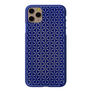 "【Web限定】Air Jacket ""kiriko"" for iPhone11 Pro Max 麻の葉つなぎ (瑠璃)"