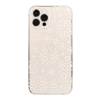 "【Web限定】Air Jacket ""kiriko"" for iPhone12 / iPhone12 Pro 花 (クリア)"