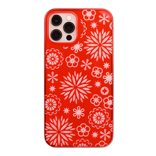 "【Web限定】Air Jacket ""kiriko"" for iPhone12 / iPhone12 Pro 花 (紅)"