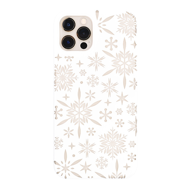 "【Web限定】Air Jacket ""kiriko"" for iPhone12 / iPhone12 Pro 雪片 (ピュアホワイト)"