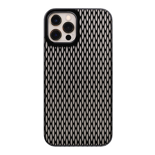 "【Web限定】Air Jacket ""kiriko"" for iPhone12 / iPhone12 Pro 米つなぎ (ピアノブラック)"