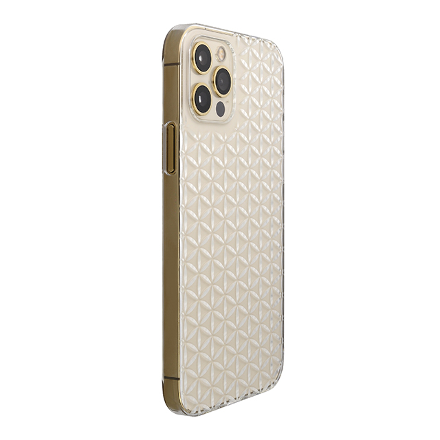 "【Web限定】Air Jacket ""kiriko"" for iPhone12 / iPhone12 Pro 麻の葉つなぎ (クリア)"