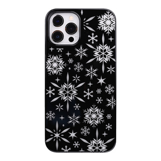"【Web限定】Air Jacket ""kiriko"" for iPhone12 Pro Max 雪片 (ピアノブラック)"