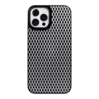 "【Web限定】Air Jacket ""kiriko"" for iPhone12 Pro Max 米つなぎ (ピアノブラック)"