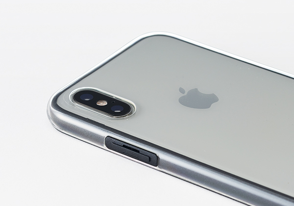 Air jacket Shockprooft for iPhone XS 側面、電源ボタン